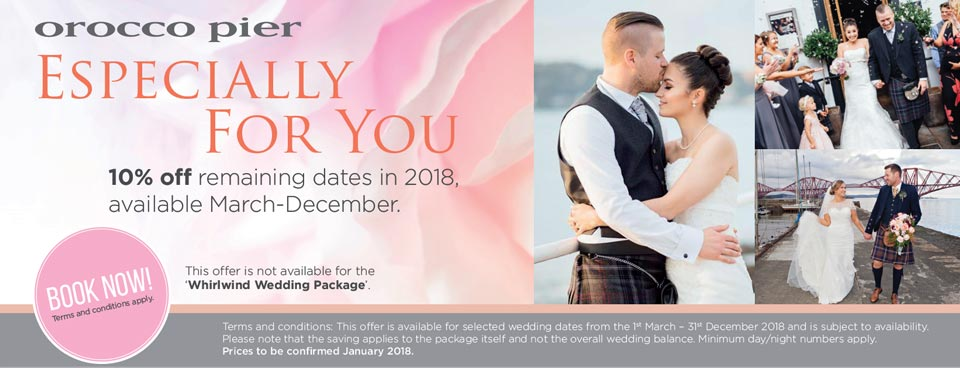 Orocco Pier Boutique Hotel South Queensferry : weddings 2017 from www.oroccopier.co.uk size 960 x 368 jpeg 66kB